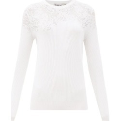 Givenchy - Floral-pointelle Rib-knitted Sweater - Womens - White found on Bargain Bro Philippines from MATCHESFASHION.COM - AU for $1279.81