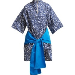 Marni - Lylee Floral-print Cotton-poplin Tunic Top - Womens - Blue Multi found on Bargain Bro from Matches UK for £214