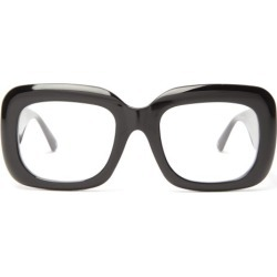 Linda Farrow - Oversized Square Acetate Glasses - Womens - Black found on MODAPINS from Matches Global for USD $401.00