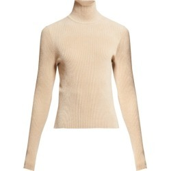 Alexandre Vauthier - High-neck Ribbed Chenille Sweater - Womens - Beige found on Bargain Bro UK from Matches UK
