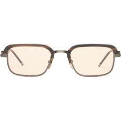 Jacques Marie Mage - Comanche Matte-acetate And Titanium Sunglasses - Mens - Bronze found on MODAPINS from Matches Global for USD $765.00