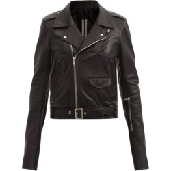 Rick Owens - Stooges Leather Biker Jacket - Womens - Black found on Bargain Bro India from MATCHESFASHION.COM - AU for $2676.65