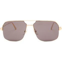 Cartier Eyewear - Bronze Aviator Metal Sunglasses - Mens - Grey found on MODAPINS from MATCHESFASHION.COM - AU for USD $871.03
