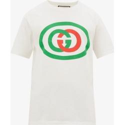 Gucci - T-shirt en coton à imprimé logo GG