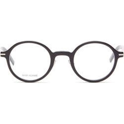 Dior Homme Sunglasses - Blacktie Round Acetate Glasses - Mens - Black found on Bargain Bro UK from Matches UK
