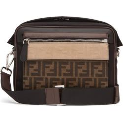 Fendi - Logo-jacquard Leather-trim Cross-body Bag - Mens - Brown Multi found on Bargain Bro UK from Matches UK