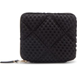 Comme Des Garçons Wallet - Quilted-mesh Zip-around Wallet - Mens - Black found on MODAPINS from Matches UK for USD $244.43