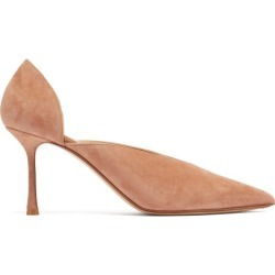 Francesco Russo - Point-toe Suede Pumps - Womens - Beige found on MODAPINS from MATCHESFASHION.COM - AU for USD $597.41