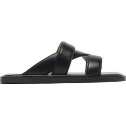 Bottega Veneta - Vienna Leather Sandals - Mens - Black found on Bargain Bro UK from Matches UK