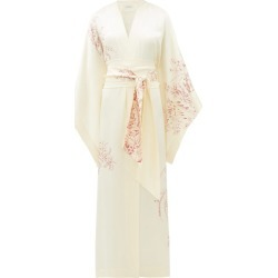 Carine Gilson - Floral-print Silk-satin Robe - Womens - White Print found on Bargain Bro India from Matches Global for $1555.00
