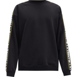 Vetements - Logo-jacquard Cotton-blend Jersey Sweatshirt - Mens - Black found on MODAPINS from Matches Global for USD $760.00
