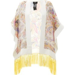 Etro - Annodota Fringed Floral-print Silk Cover Up - Womens - White Multi found on Bargain Bro UK from Matches UK