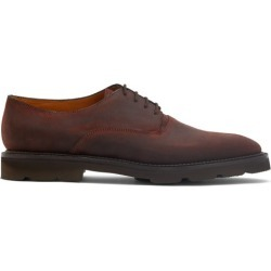 John Lobb - Milton Waxed-suede Derby Shoes - Mens - Dark Brown found on MODAPINS from Matches UK for USD $1100.15