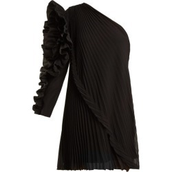 Givenchy - One-shoulder Pleated Silk-georgette Dress - Womens - Black found on Bargain Bro Philippines from MATCHESFASHION.COM - AU for $1148.17