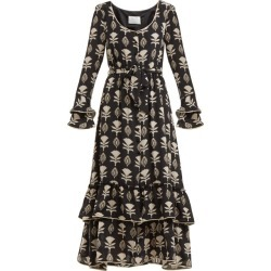 Athena Procopiou - Robe en soie à imprimé floral found on MODAPINS from matchesfashion.com fr for USD $400.40
