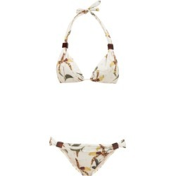 Adriana Degreas - Orchid-print Triangle Bikini - Womens - White Print found on MODAPINS from Matches UK for USD $138.28