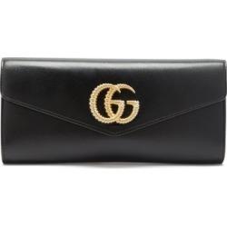 Gucci - Broadway Gg-logo Leather Clutch Bag - Womens - Black found on Bargain Bro from MATCHESFASHION.COM - AU for USD $934.90