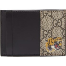Gucci - Tiger-print Gg Supreme Canvas Cardholder - Mens - Beige found on Bargain Bro India from Matches Global for $270.00