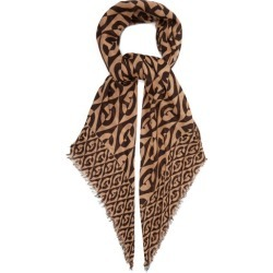 Gucci - GG Rhombus-print Wool Scarf - Womens - Brown found on Bargain Bro Philippines from Matches Global for $690.00