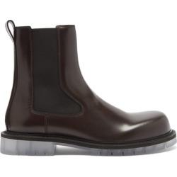 Bottega Veneta - Transparent-sole Leather Chelsea Boots - Mens - Brown found on Bargain Bro UK from Matches UK