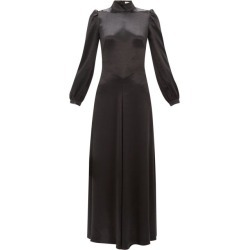 Bella Freud - Ophelia Tie-back Satin Dress - Womens - Black found on MODAPINS from Matches Global for USD $382.00