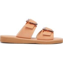 Ancient Greek Sandals - Iaso Double Strap Leather Sandals - Womens - Tan