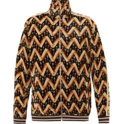 Gucci - Veste de jogging en velours à chevrons et logo GG