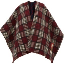 Gucci - Reversible Check And Gg-jacquard Wool Poncho - Womens - Red Multi found on Bargain Bro Philippines from Matches Global for $2250.00
