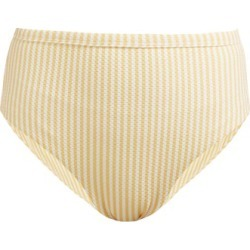 Asceno - High Rise Technical Seersucker Bikini Briefs - Womens - Yellow found on MODAPINS from MATCHESFASHION.COM - AU for USD $134.79