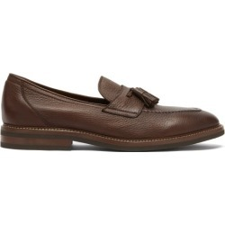 Brunello Cucinelli - Tasselled Grained-leather Loafers - Mens - Brown found on Bargain Bro UK from Matches UK