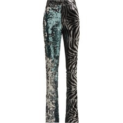 Halpern - Sequined Slim-leg Flared Trousers - Womens - Light Blue found on MODAPINS from Matches Global for USD $486.00