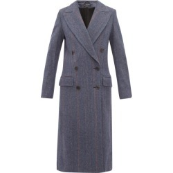 Ann Demeulemeester - Double-breasted Wool-blend Coat - Womens - Blue