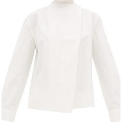 Bottega Veneta - Tie-neck Linen Blouse - Womens - White found on Bargain Bro UK from Matches UK