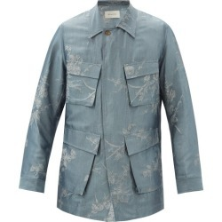 Bed J.W. Ford - Veste en satinette à jacquard fleuri found on MODAPINS from matchesfashion.com fr for USD $657.80
