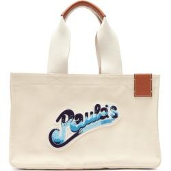 Loewe Paula's Ibiza - Beaded-logo Canvas Tote Bag - Mens - Cream found on Bargain Bro UK from Matches UK