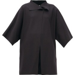 Harris Wharf London - Pressed-wool Wrap Coat - Womens - Black found on MODAPINS from MATCHESFASHION.COM - AU for USD $257.01