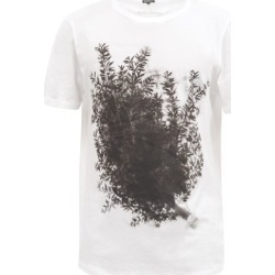 Ann Demeulemeester - Branch And Logo-print Cotton-jersey T-shirt - Mens - White found on MODAPINS from Matches Global for USD $243.00
