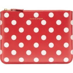 Comme Des Garçons Wallet - Polka-dot Leather Pouch - Womens - Red Multi found on MODAPINS from Matches UK for USD $147.95
