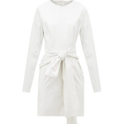 MSGM - Crocodile-effect Faux-leather Dress - Womens - White found on Bargain Bro UK from Matches UK