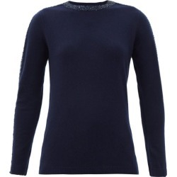 Bella Freud - Sequinned Wool-blend Sweater - Womens - Navy found on MODAPINS from MATCHESFASHION.COM - AU for USD $280.77