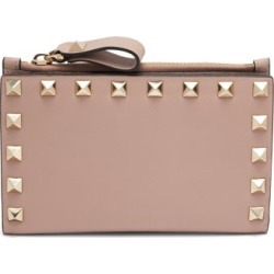 Valentino Garavani - Rockstud Leather Card And Coin Purse - Womens - Nude found on Bargain Bro India from Matches Global for $425.00