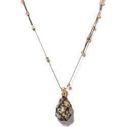 Bottega Veneta - Spotted-stone Gold-plated Necklace - Womens - Black White found on Bargain Bro UK from Matches UK