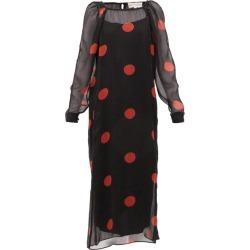 Mara Hoffman - Elisabetta Polka-dot Crepon Midi Dress - Womens - Black Print found on MODAPINS from Matches UK for USD $305.33