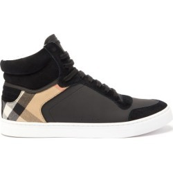Burberry - Baskets montantes en cuir et daim Reeth found on Bargain Bro Philippines from matchesfashion.com fr for $546.00
