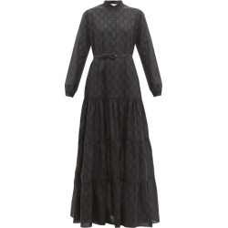 Gucci - GG Broderie-anglaise Cotton-blend Maxi Dress - Womens - Black found on Bargain Bro India from Matches Global for $3980.00