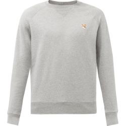 Maison Kitsuné - Fox-appliqué Cotton-jersey Sweatshirt - Mens - Grey found on Bargain Bro from Matches UK for £131