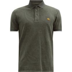 Etro - Paisley-print Cotton-piqué Polo Shirt - Mens - Khaki found on Bargain Bro UK from Matches UK