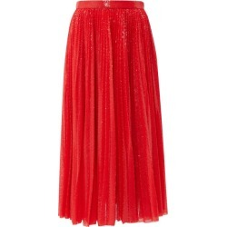 MSGM - Sequinned Pleated Midi Skirt - Womens - Red found on Bargain Bro UK from Matches UK
