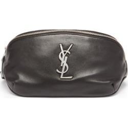 Saint Laurent - Ysl-plaque Leather Canvas Belt Bag - Mens - Black found on Bargain Bro UK from Matches UK