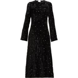 Miu Miu - Crystal-embellished Open-back Velvet Dress - Womens - Black found on Bargain Bro UK from Matches UK